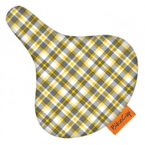 BikeCap Sattelschoner - Yellow plaid