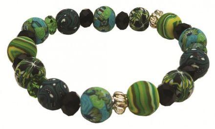 Hergo Collection Wildnfree Armband 10 mm - Mysterious Green, grün