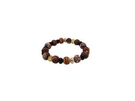 Hergo Collection Wildnfree Armband 10 mm - Wild Africa, braun