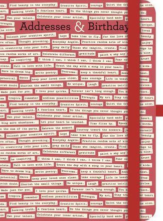 TeNeues Notizbuch - The Comstocks - Addresses & Birthdays