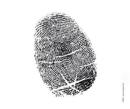 Inkognito Brillenputztuch - Fingerabdruck
