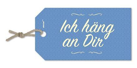 sticky jam Geschenkanhänger - Ich häng an Dir