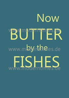 Postkarte - Now butter by the fishes