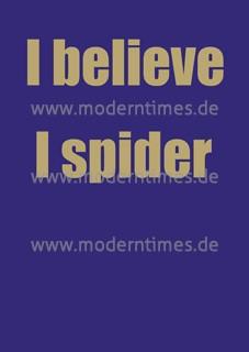 Postkarte - I believe I spider