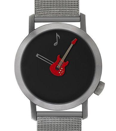 Akteo Armbanduhr Rote Gitarre silber - 42 mm