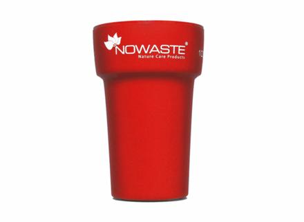 Nowaste Trinkbecher Tree Cup 300 ml - rot