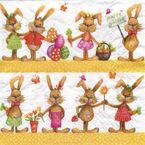 Atelier Papierservietten - Happy Easter Hasen, 20 Stück