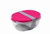 Mepal Salatbox Ellipse, pink