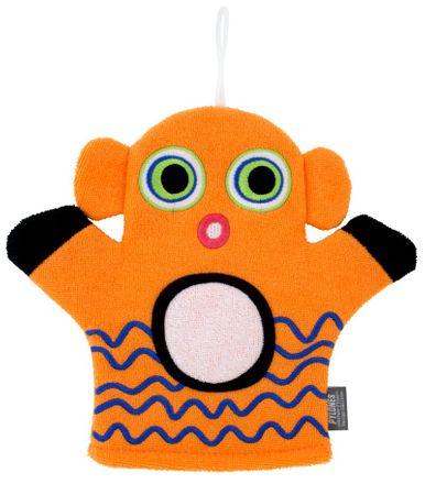 Pylones Kinder-Waschlappen Hello - Clownfisch, orange