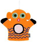 Pylones Kinder-Waschlappen Hello - Clownfisch, orange