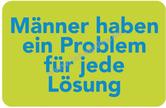 inkognito Kühlschrankmagnet - Männerprobleme