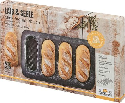 Birkmann Antihaft-Backform Laib & Seele - Mini Baguette-Backblech