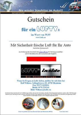 Lufty®Komfort Gutschein - Geschenkgutschein – Bild 1