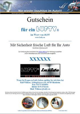 Lufty®Standard Gutschein - Geschenkgutschein