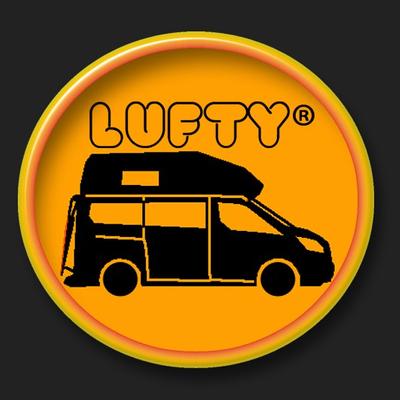 Lufty-Aufkleber 2015 (Lufty-Logo-Camper)  5cm  Rund