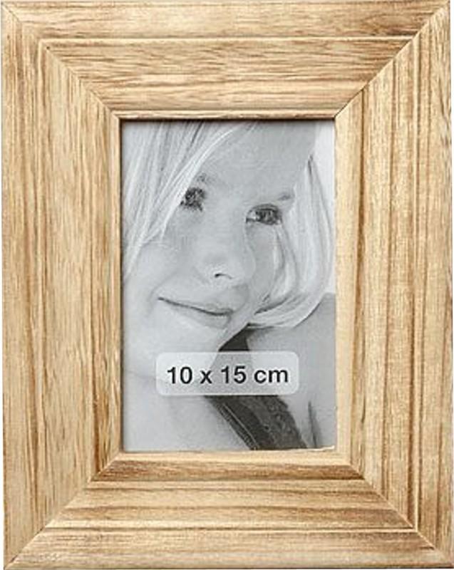 Bilderrahmen Holz natur Rahmen profiliert Rahmenformat 10 x 15 cm 001