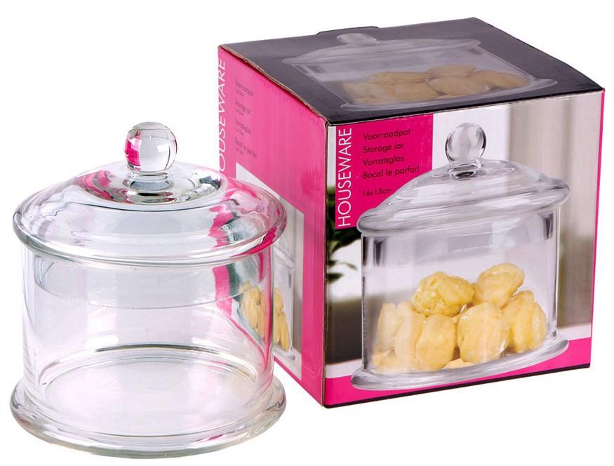 vorratsglas glasdose glas bonbonniere mit deckel 16 cm hoch klarglas vorratsdose essen. Black Bedroom Furniture Sets. Home Design Ideas