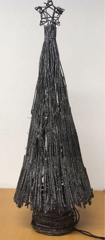 Weihnachtsbaum Rattan.Weihnachtsbaum Baum Rattan Glitzer Beleuchtung Weihnachts Deko