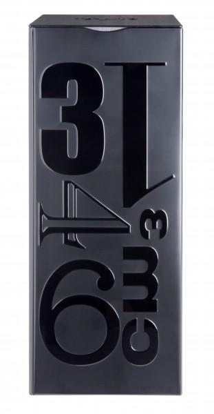 "Große Metalldose ""Pur Black""  schwarz lackiert   001"