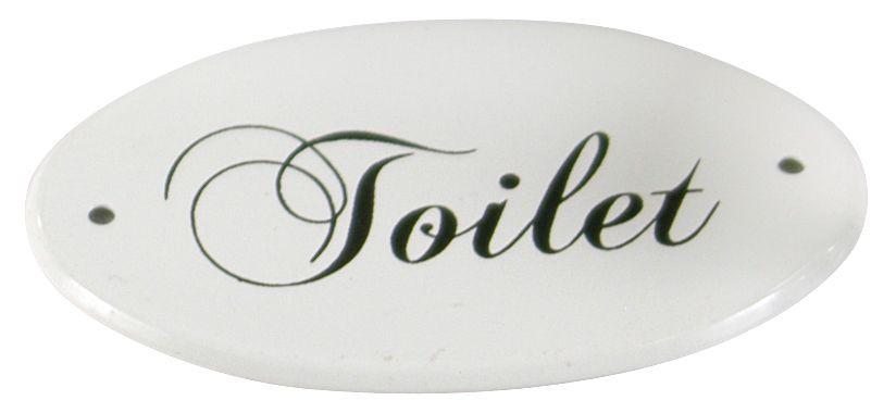 """Emailleschild Türschild Schild Emaille weiß """"Toilet"""" 001"""