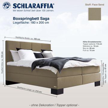 Schlaraffia Aktions-Boxspringbett Saga Face Sand 180x200 cm LAGERWARE – Bild 2