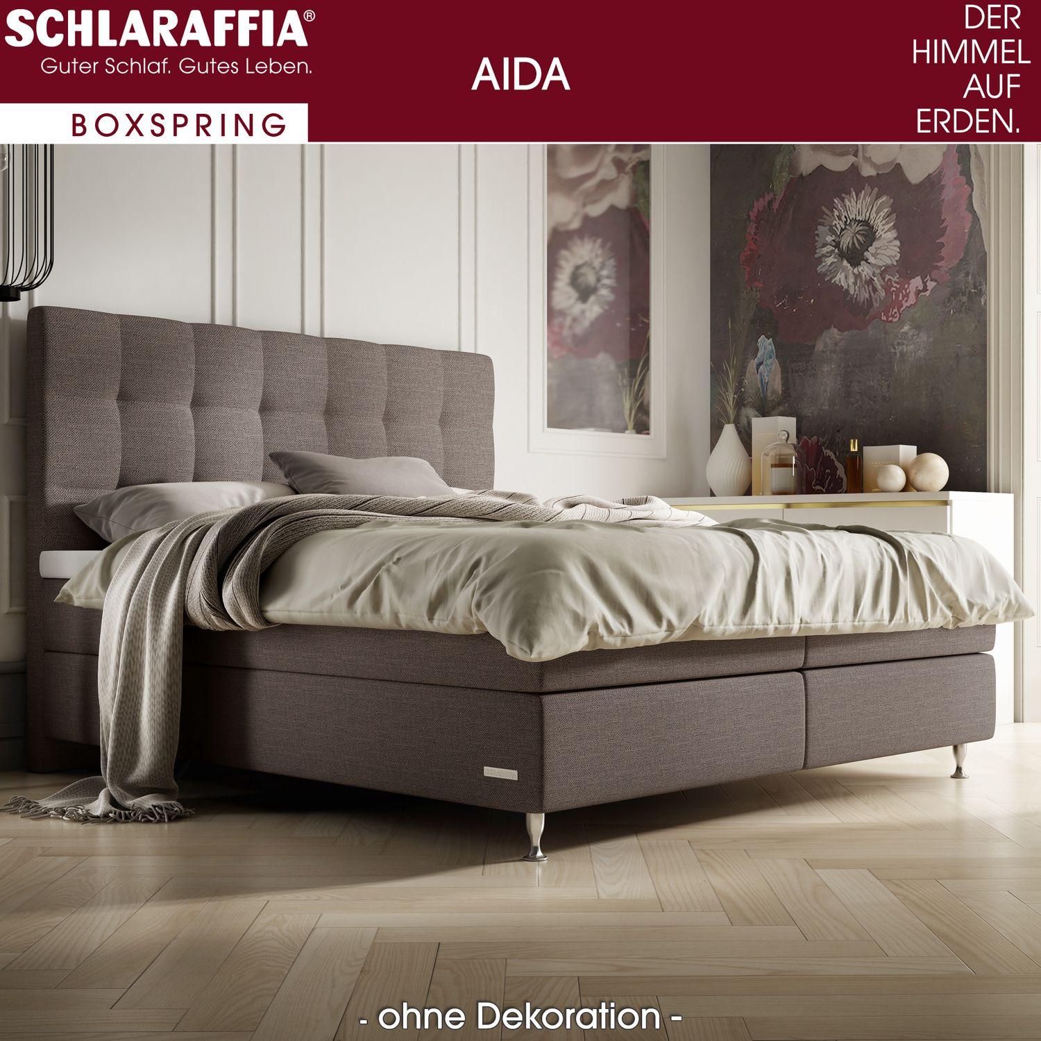 schlaraffia aida box cubic boxspringbett 180x220 cm boxspringbetten nach gr e 180 x 220 cm. Black Bedroom Furniture Sets. Home Design Ideas