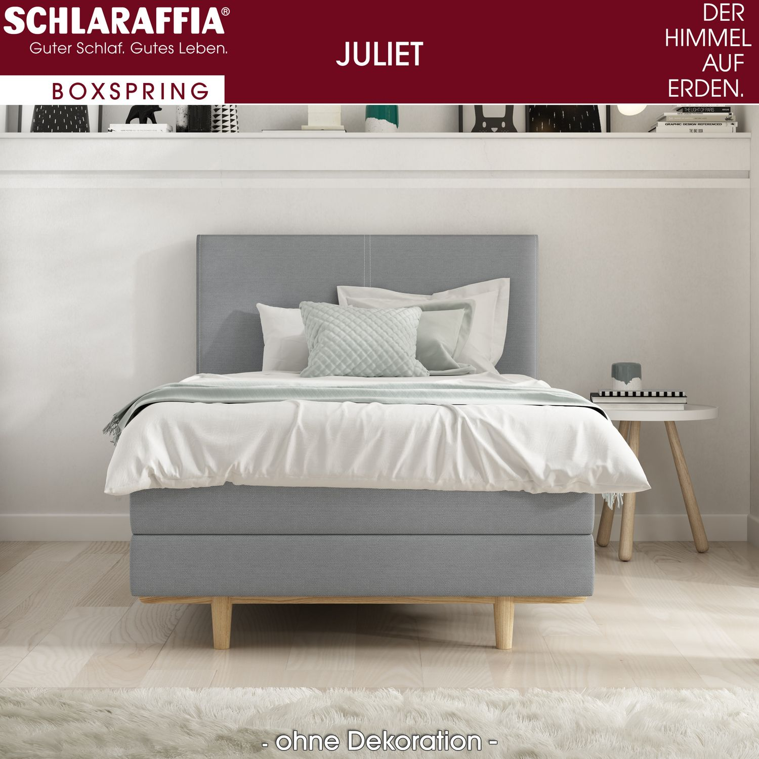 schlaraffia juliet box cubic boxspringbett 200x220 cm boxspringbetten nach gr e 200 x 220 cm. Black Bedroom Furniture Sets. Home Design Ideas