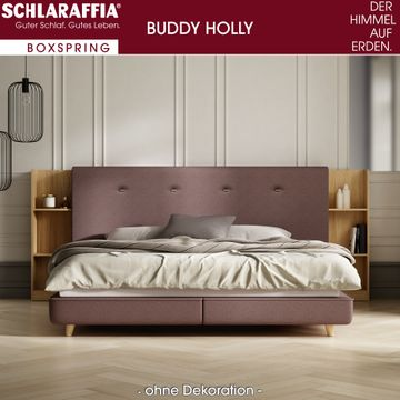 Schlaraffia Buddy Holly Nussbaum Box Cubic Boxspringbett 200x200 cm – Bild 1