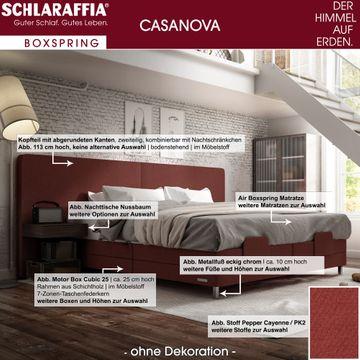 Schlaraffia Casanova XL Nachtkonsole Nussbaum Box Cubic Boxspringbett 200x200 cm – Bild 3