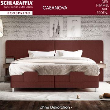 Schlaraffia Casanova XL Nachtschrank Nussbaum Box Cubic Boxspringbett 180x200 cm – Bild 2