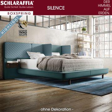 Schlaraffia Silence Nachtkonsole Nussbaum Box Plattform Boxspringbett 200x200 cm – Bild 2