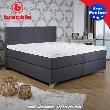 Breckle Boxspringbett Arga Preime 140x210 cm inkl. Topper 3700 (Gelschaum) – Bild 6
