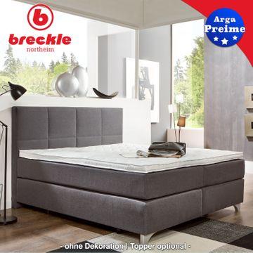Breckle Boxspringbett Arga Preime 140x220 cm inkl. Topper 3700 (Gelschaum) – Bild 1