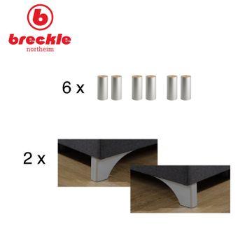 Breckle Boxspringbett Arga Preime 140x210 cm inkl. Topper 3700 (Gelschaum) und Kissenset – Bild 5