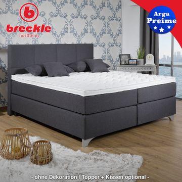 Breckle Boxspringbett Arga Preime 140x220 cm inkl. Topper 3700 (Gelschaum) und Kissenset – Bild 6