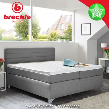 Breckle Boxspringbett Arga Top 200x200 cm inkl. Topper – Bild 1