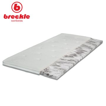 Breckle Boxspringbett Arga Palace 200x220 cm inkl. Gel-Topper Platin Premium & Kissenset – Bild 4
