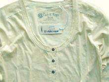 Rich&Royal Longsleeve vintage overdyed Knopfleiste 24ALSSerafino statt €49,95 jetzt € 29,95