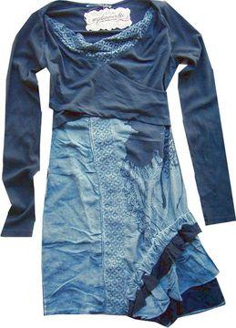 Angels Never Die Gipsy-Kleid indigo asymmetrischer Volantbesatz 13214-9422statt €119,95 jetzt €79,95