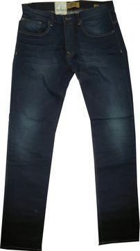 Petrol Industries tapered Herrenjeans darkblue coated used Turner12F19