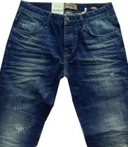 Petrol Industries Herrenjeans stone used destroyed tapered Turner TU27