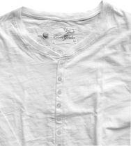 Cotton Garden Herren Longsleeve vintage white KnopfleisteGaga