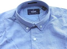 Mavi  Oxford Basic-Hemd insignia blue filàfil fitted button down020033