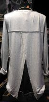 Cotton Candy Tunikashirt light grey mel  back wraped T1-11