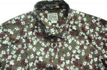 Dstrezzed Freizeithemd saddle brown allover Flowerprint 303097