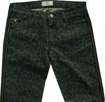 Le Temps Des Cerises stylische Stretchröhre leopard bleu Gallonstreifen Jace