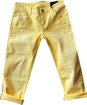 Blue Fire skinny CapriJeans lemon Color Stretchdenim Tyra 331