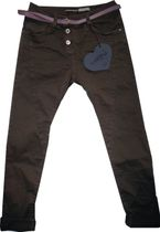 PLEASE coole Baggystylepant dark oliv Colortwill sichtbarer Knopfverschluß P78A