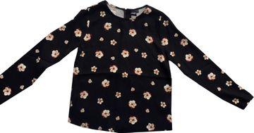 Khujo freches Blusenshirt schwarz Flowerprint Rückenverschluß Fedora 1078SH193