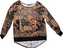 Please oversized Blusenshirt black multicolor Flowerprint C192C10169